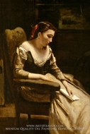 The Letter by Jean-Baptiste Camille Corot