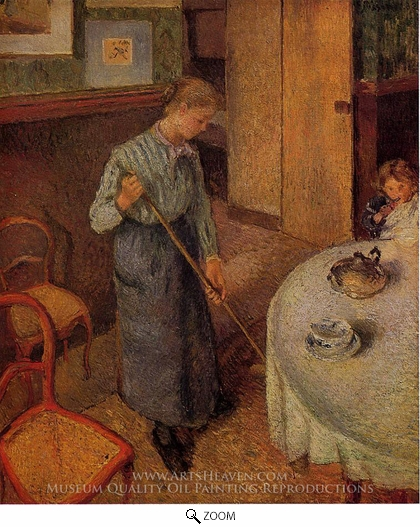 Painting Reproduction of The Little Country Maid, Camille Pissarro
