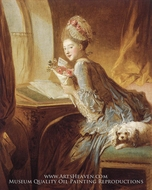 The Love Letter by Jean-Honore Fragonard