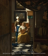 The Love Letter by Jan Vermeer