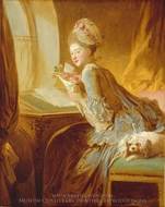 The Love Letter painting reproduction, Jean-Honore Fragonard