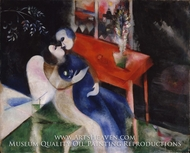 The Lovers by Marc Chagall (inspired by)