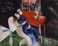 The Lovers painting reproduction, Marc Chagall (inspired by)