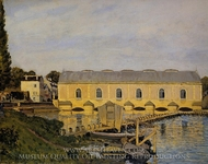 The Machine at Marly painting reproduction, Alfred Sisley
