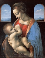 The Madonna and Child painting reproduction, Leonardo Da Vinci