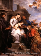 The Madonna and Child Enthroned with Saints Rosalia, Peter and Paul by Sir Anthony Van Dyck