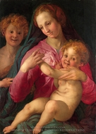 The Madonna and Child with the Infant Baptist painting reproduction, Jacopo Pontormo