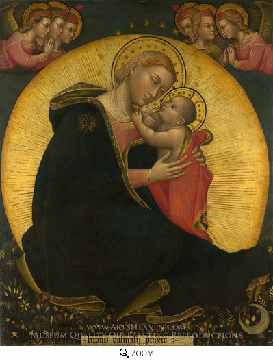 Lippo Di Dalmasio, The Madonna of Humility oil painting reproduction
