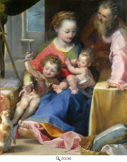 Painting Reproduction of The Madonna of the Cat (La Madonna del Gatto), Federico Barocci