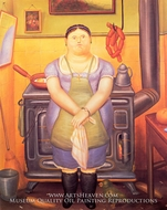 The Maid by Fernando Botero
