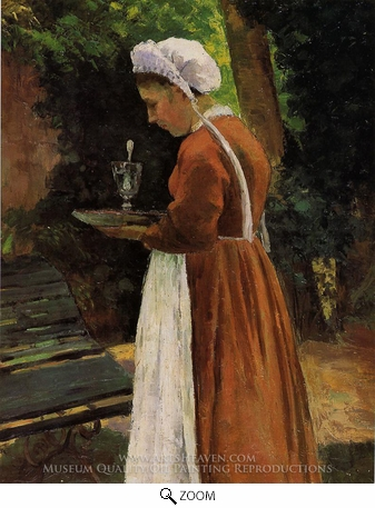 Painting Reproduction of The Maidservant, Camille Pissarro