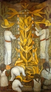 The Maize Festival painting reproduction, Diego Rivera