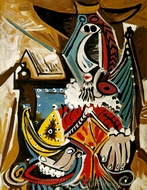 The Man with the Golden Helmet painting reproduction, Pablo Picasso (inspired by)