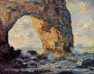 The Manneport, Etretat by Claude Monet