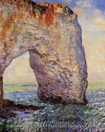 The Manneport near Etretat by Claude Monet