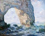 The Manneporte, Etretat painting reproduction, Claude Monet