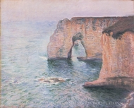 The Manneporte Viewed From the West painting reproduction, Claude Monet