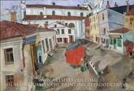 The Market Place, Vitebsk by Marc Chagall (inspired by)