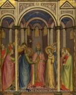 The Marriage of the Virgin painting reproduction, Gregorio Di Cecco Di Luca