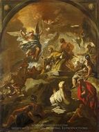 The Martyrdom of Saint Januarius painting reproduction, Luca Giordano