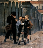 The Meeting painting reproduction, Maria Bashkirtseff