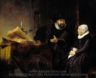 The Mennonite Preacher Anslo and his Wife painting reproduction, Rembrandt Van Rijn