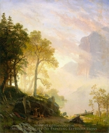 The Merced River in Yosemite painting reproduction, Albert Bierstadt