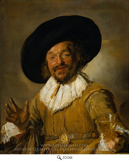 Painting Reproduction of The Merry Drinker, Frans Hals