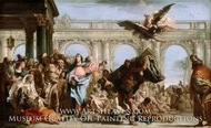 The Miracle of the Pool of Bethesda painting reproduction, Giovanni Domenico Tiepolo