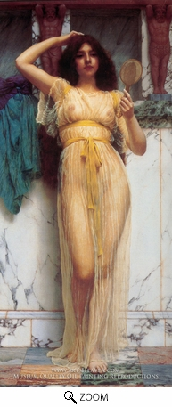 Painting Reproduction of The Mirror, John William Godward