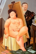 The Model painting reproduction, Fernando Botero