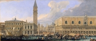 The Molo, Venice, from the Bacino di San Marco painting reproduction, Luca Carlevaris