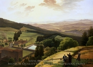 The Monastery of Vallombrosa and the Arno Valley Seen from Paradisino painting reproduction, Louis Gauffier