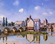 The Moret Bridge in the Sunlight painting reproduction, Alfred Sisley