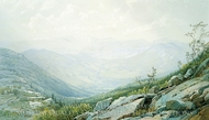 The Mount Washington Range, from Mount Kearsarge painting reproduction, William Trost Richards