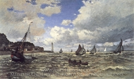 The Mouth of the Seine at Honfleur painting reproduction, Claude Monet