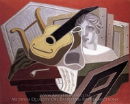 The Musician's Table painting reproduction, Juan Gris