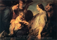 The Mystic Marriage of St. Catherine painting reproduction, Sir Anthony Van Dyck