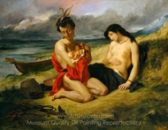 The Natchez painting reproduction, Eugene Delacroix