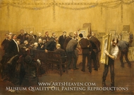 The National Academy Jury of 1907 painting reproduction, Francis Luis Mora