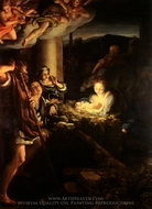 The Nativity painting reproduction, Correggio