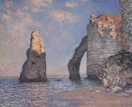 The Needle and the Porte d'Aval painting reproduction, Claude Monet