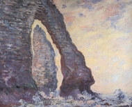 The Needle Seen Through the Porte d'Aval painting reproduction, Claude Monet