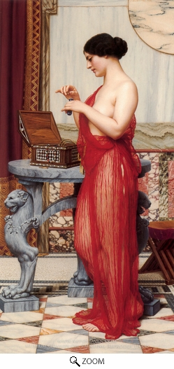 Painting Reproduction of The New Perfume, John William Godward