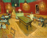The Night Cafe painting reproduction, Vincent Van Gogh