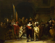The Night Watch painting reproduction, Rembrandt Van Rijn