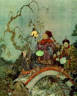 The Nightingale painting reproduction, Edmund Dulac