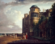 The North Terrace at Windsor Castle, Looking East painting reproduction, Paul Sandby