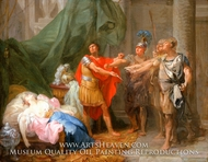The Oath of Brutus painting reproduction, Jacques-Antoine Beaufort