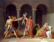 Oath of the Horatii painting reproduction, Jacques-Louis David